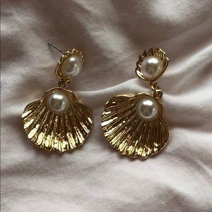 ASOS gold shell earrings